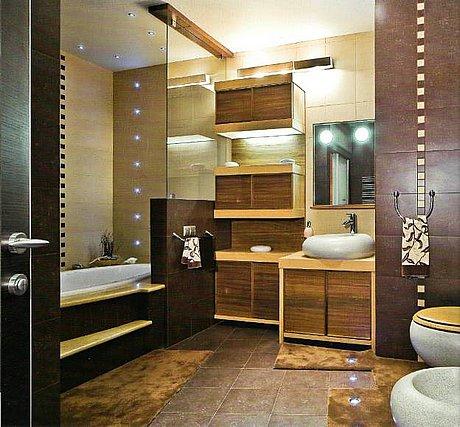 ванная комната с стиле арт-деко