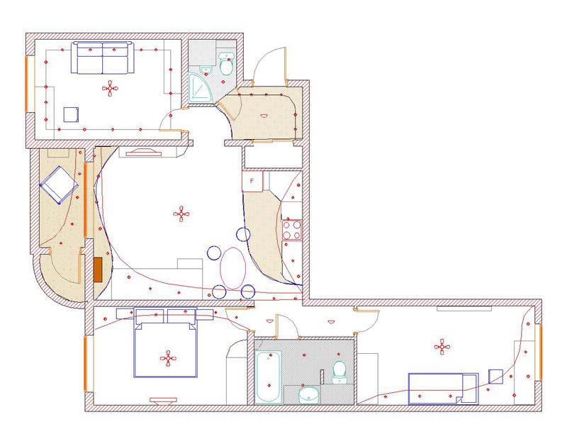 Жилые дома серии 121, планировка квартир 121 серия