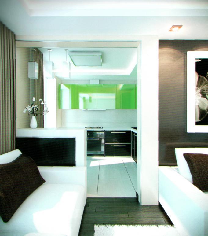 Интерьер маленькой квартиры фото серии 349